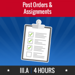 Group logo of III.A – Post Orders & Assignments