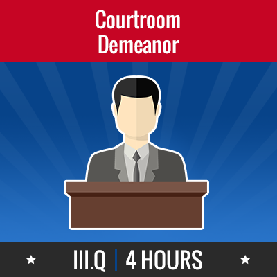 Group logo of III.Q – Courtroom Demeanor